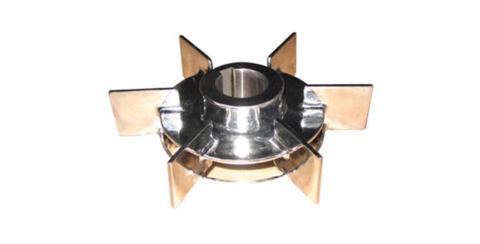 平直叶圆盘涡轮式