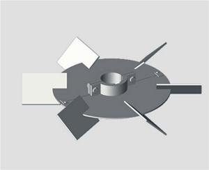 斜叶kechai圆盘涡轮式