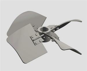 四宽叶可拆旋桨式jiao拌器